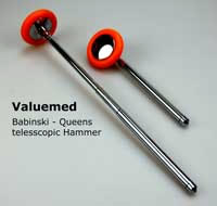 This reflex hammer from Valuemed is both a queens and a babinski reflex hammer